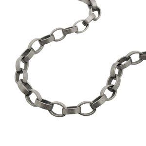 Armband, 5mm Ankerkette altsilber