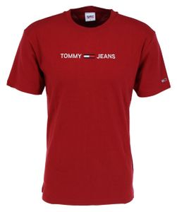 Tommy Jeans Straight Logo Wine Red XL