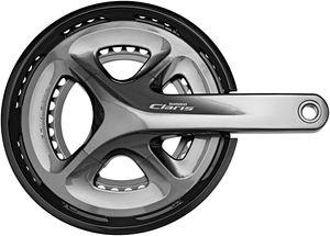 Shimano Claris FC-R2000 Kurbelgarnitur 2x8-fach 50-34 Zähne grau Kurbelarmlänge 170cm