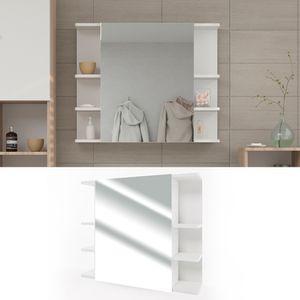 Spiegelschrank FYNN 80 x 64 cm Weiß - Badezimmerspiegel Spiegel Hängespiegel   Badspiegel