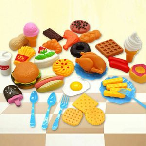 34x Lebensmittel Kinderküche Spielküche Spielzeug Zubehör Kaufladen n