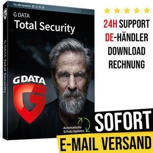 G Data Total Security 2021 | 3 Geräte | 1 Jahr | Vollversion | Versand per E-Mail