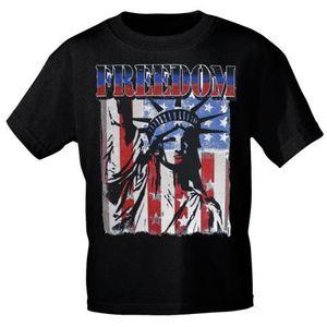T-SHIRT Print USA Freedom Freiheitsstatue Amerika 10983 Gr. S-3XL Color - schwarz Größe - M