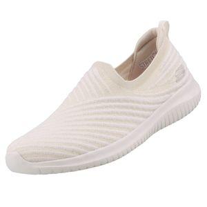 Skechers Damen Slipper ULTRA FLEX COOL STREAK Weiß, Schuhgröße:EUR 39