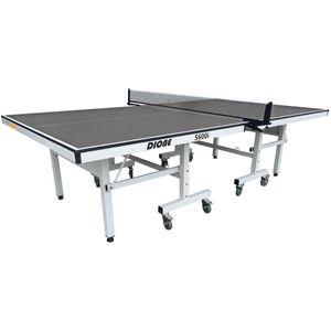 Dione Tischtennisplatte School Sport 600 kompakt Indoor Grau TT-Platte rollbarer und klappbar Tischtennistisch - 10 Minuten Installation - 95KG