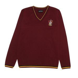 Harry Potter - Gryffindor House Pullover für Damen PG802 (XS) (Burgunder)