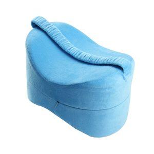 Kniekissen Orthopädisches Beinkissen Entlastung Rückenmüdigkeit Für Schwangere Blau 25,5 × 18 × 18 cm