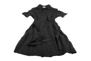 Impronte Damen Kleid Leinen Gr. 44 schwarz Neu