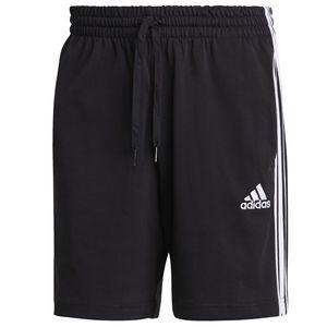 adidas kurze Hose Herren mit Taschen und drei Streifen Design, Größe:S, Farbe:Schwarz