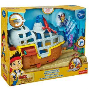 Mattel BDJ02 Disney Jake und die Nimmerlands Piraten Fischer-Price U-Boot Bucky