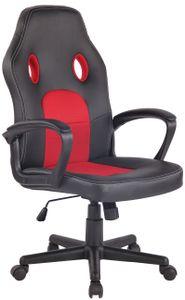 CLP Bürostuhl Elbing höhenverstellbar und drehbar, Farbe:schwarz/rot