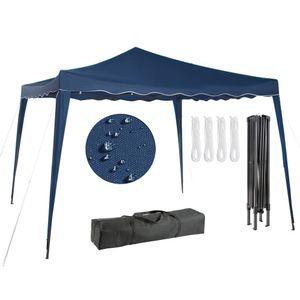 Arebos Faltpavillon Popup Partyzelt Gartenzelt Klapp Pavillon 3x3m blau- direkt vom Hersteller
