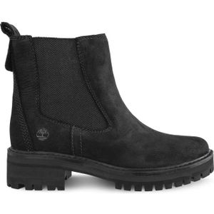 Timberland Courmayeur Valley Chelsea Damen Stiefel Schwarz Schuhe, Größe:40