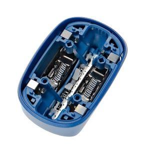 vhbw 1x Scherkopf bestehend aus Folie, Integralschneider und Klingen kompatibel mit Braun CoolTec CT2CC, CT2S, CT3CC, CT4CC Rasierer, Schwarz/Blau