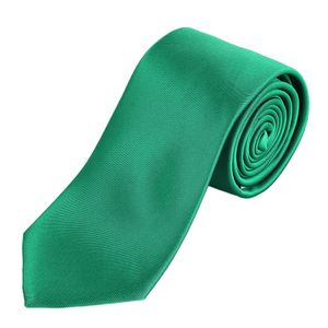 DonDon Herren Krawatte 7 cm klassische Business Krawatte - Grün