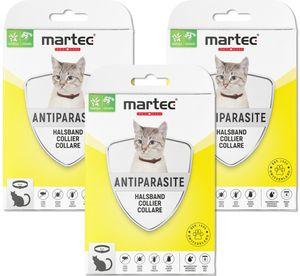 martec PET CARE 3x Flohhalsband Katze Katzenhalsband Ungezieferhalsband Katze gegen Flöhe, Milben, Zecken