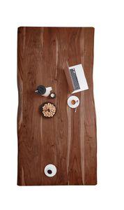 SAM® Tischplatte Baumkante Akazie Nussbaum 200 x 100 cm NOAH