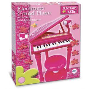 Bontempi elektronisches Klavier mit Mikrofon 53 cm rosa