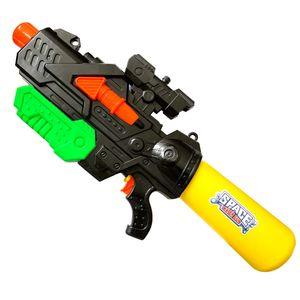 Wasserpistole mit XXL Wasser Tank Schwarz | Spritzpistole Wassergewehr 60cm | Spielzeug Wasserspritzpistole 2l Fassungsvermögen