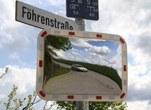 Verkehrsspiegel TopView 60x40 Überwachungsspiegel Spiegel Rohrhalterung Rohr