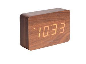 Karlsson uhr Square15 x 4,8 x 10 cm Holzfurnier braun