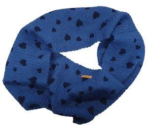 Barts Loop niedlicher Kinder Schlauch-Schal mit Herzchen Blau