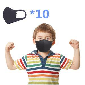 WYCTIN 10*Kinder Mundschutz Maske Waschbare Polyesterbaumwolle Atemschutz gegen Staub Anti Verschmutzungsmaske Anti Pm2.5