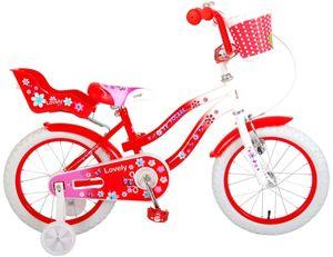 16 Zoll Kinder Mädchen Fahrrad Kinderfahrrad Mädchenfahrrad Rad Bike Mädchenrad Rücktrittbremse Rücktritt Volare LOVELY ROT 2068