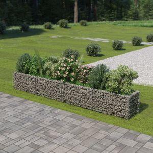 Gabionen-Hochbeet Garten-Hochbeet Hochbeet Verzinkter Stahl 360×50×50 cm
