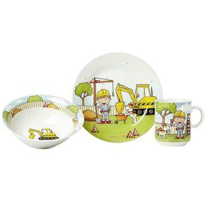 Ritzenhoff und Breker Bauarbeiter Kindergeschirrset 3teilig Porzellan