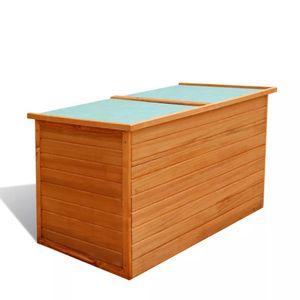 vidaXL Garten-Aufbewahrungsbox 126x72x72 cm Holz
