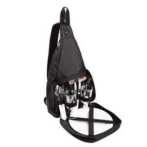BRUBAKER Picknickrucksack Picknicktasche mit Kühlach für 2 Personen Schwarz