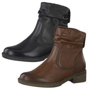 Tamaris Damen Stiefeletten Boots Blockabsatz 1-26434-25, Größe:39 EU, Farbe:Braun