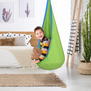 Hängehöhle,Kinderhängesitz mit Sitzkissen,Belastbar bis 80kg,Grün