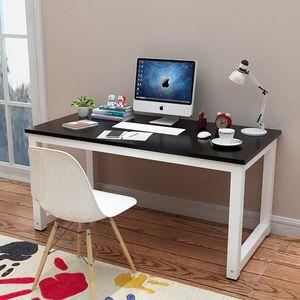 Schreibtisch Höhenverstellbar Bürotisch 120x60x75cm Computertisch Tisch Arbeitstisch, leicht montiert, Schwarz/ Weiß