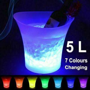 7-Farbwechsel 5L Wein LED Eiskübel Party Champagner Getränke Bar Kühler