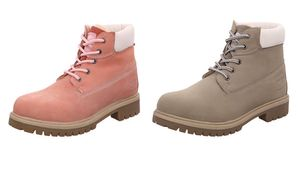 Dockers by Gerli Damen Combat Dessert Boots, Größe:EUR 32, Farbe:Grautöne