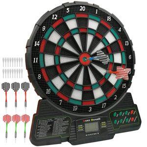 ELEGTANT Elektronische Dartscheibe Dardboard mit  LCD-Anzeige und 6 Dartpfeilen Dartspiel E-Dartautomat