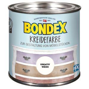 Bondex Kreidefarbe Kreativ Weiss Shabby-Chic-Look, 500 ml