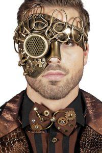 Kostüm Zubehör Maske Steampunk gold Karneval Halloween Party