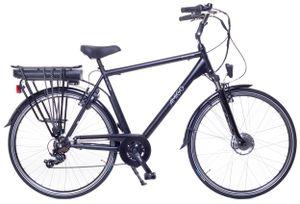 Amigo E-Active - Elektrofahrrad für Herren - E-bike 28 Zoll - Herrenfahrrad mit Shimano 7-Gang - Schwarz