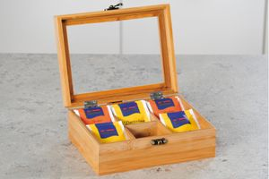 KesperTeebox mit 6 Fächern Bambus, 58902