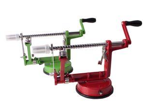 3in1 Apfelschäler Apfelmaschine Apfelentkerner Apfelschneider Apfelschälmaschine Rot