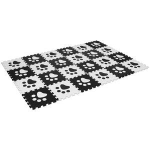 GOPLUS Puzzlematte 24 Stuecke, Spielmatte fuer Babys und Kinder, Kindermatte, Puzzleteppich aus Eva, Steckmatte, 30x30cm