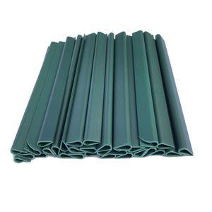 30 Befestigungsclips Grün Klemmschienen für Doppelstabmatten Sichtschutzstreifen Zaun