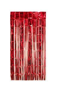 Lametta Vorhang 50x100cm, Farbauswahl:rot
