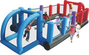 Happy Hop 9072N 'Inflatable Soccer Field ' Hüpfburg mit Gebläse und Tasche ; für bis zu 10 Kinder ; Maße (LxBxH): 800 cm x 335 cm x 180 cm