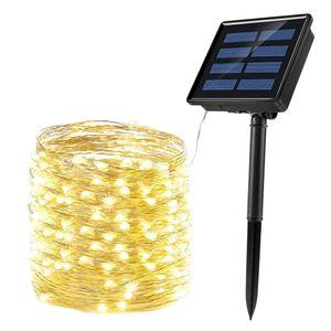 Solar Lichterkette Aussen 20m LED Wasserdicht Kupferdraht Solarlichterkette Deko für Garten, Balkon, Terrasse, Hof, Hochzeit, Weihnachten, Party