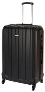 Cahoon – Hartschalen-Koffer Trolley 4-Rollen Reisekoffer / XL 102 Liter / Farbe: schwarz