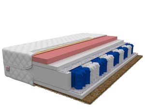 Matratze 140 x 200 cm VIGO 7 Zonen H3 H4 Premium Taschenfederkern Visco Memory Schaum + Kokos Höhe ca 21 cm